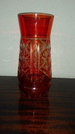 Оригинальная ваза для цветов хрусталь рубин производства СССР.