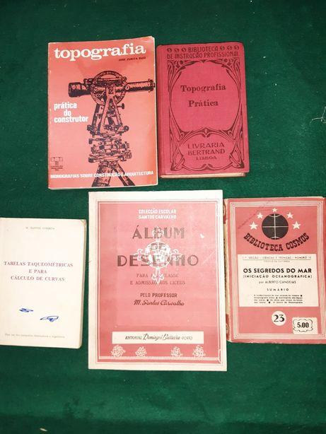 Antigos livros técnicos de vários temas