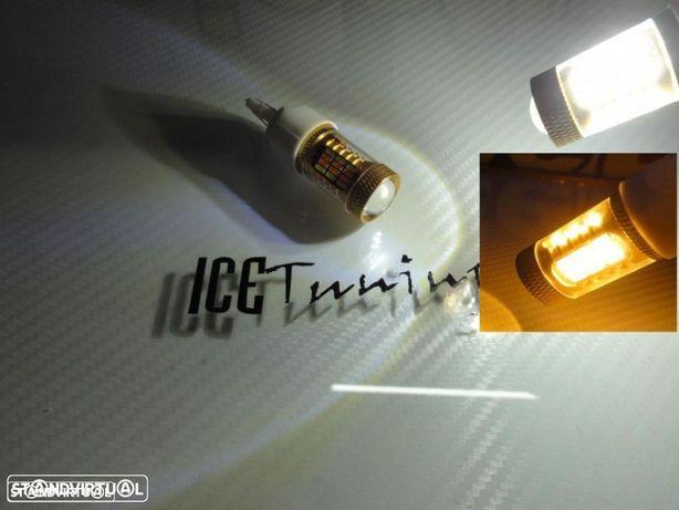 Led T20 / 7443 21/5W 2 Polos 2 cores Branco e Laranja 5W, 480 LUMENS 12V-24V