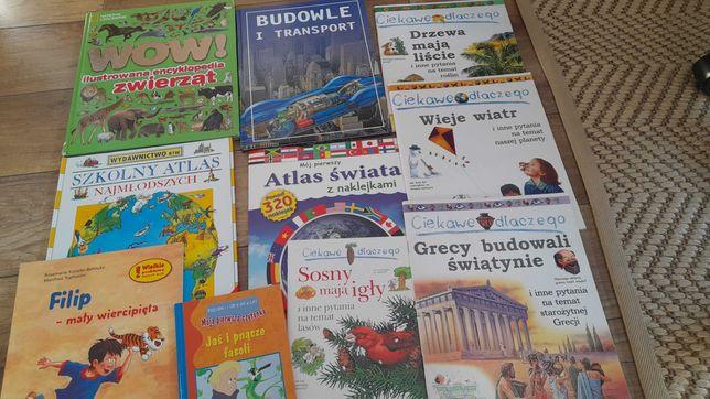 Książki dla dzieci, atlas, ciekawe dlaczego, książki - oddam za kawę!