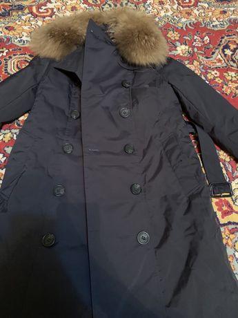 Теплое пальто/пуховик Burberry. Распродажа!!!