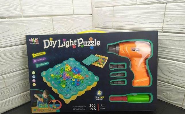 на 200 детали Большой Конструктор - мозайка Diy Light Puzzle Новый