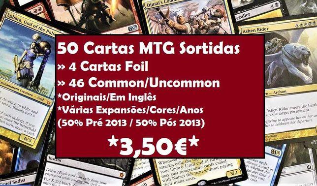 50 Cartas MTG (x4 FOILS/Antigas&Recentes) Magic the Gathering