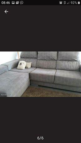 Sofá moderno castanho em tecido  *NOVO*