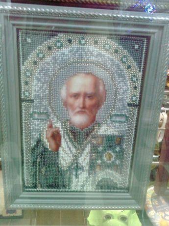 Вышивка бисером Св. Николай