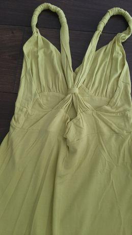 Vestido midi cor limão
