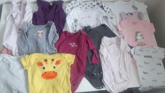 Ubranka dla niemowlaka body,pajace,spodenki 3-6m komplet