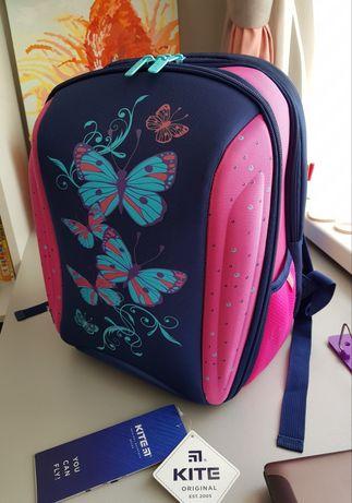 Каркасный школьный рюкзак Kite Butterfly ,портфель кайт.