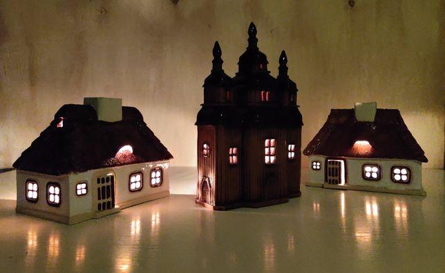 Сувенір. Будиночок свічник з кераміки.