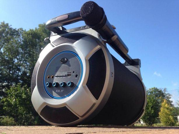 Przenosny Subwoofer Tuba Radio Budowlane Glosnik Bluetooth Karaoke MP3