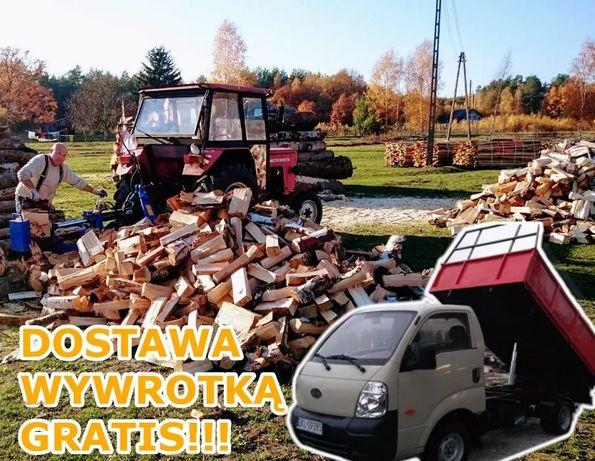 Drewno opałowe kominkowe opał, 4m układane, TRANSPORT GRATIS!