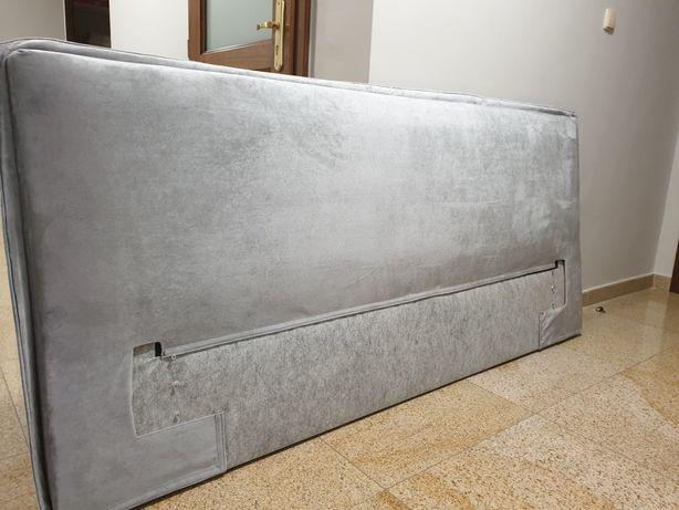 Wezglowia szary kolor zagłówek panel duży