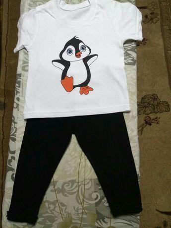 Форма для физкультуры в детский сад (футболка и бриджи) на рост 86-92