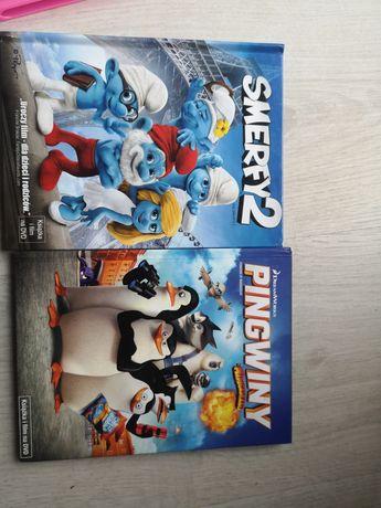 Bajki dvd smurfy2 i pingwiny z madagaskaru
