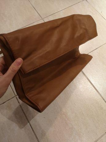 brązowa torebka ZARA bag na RAMIĘ brąz DAMSKA torba