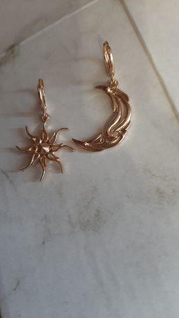 сережки у вигляді сонця та місяця