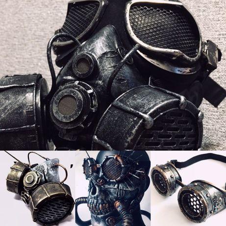 Маска респиратор гоглы очки стимпанк steampunk