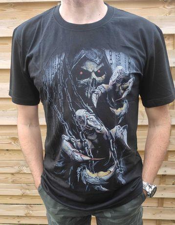 Nowa koszulka bawełna szpony czaszka 5xl