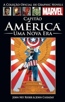 Livro Marvel da coleção Salvat - Capitão América: Uma Nova Era