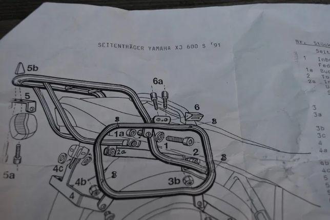 Yamaha XJ 600 Diversion 91-95r STELAŻ kufry boczne GIVI Monokey