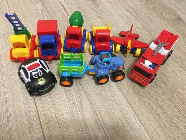 Машинки wader, трактор, полицейская