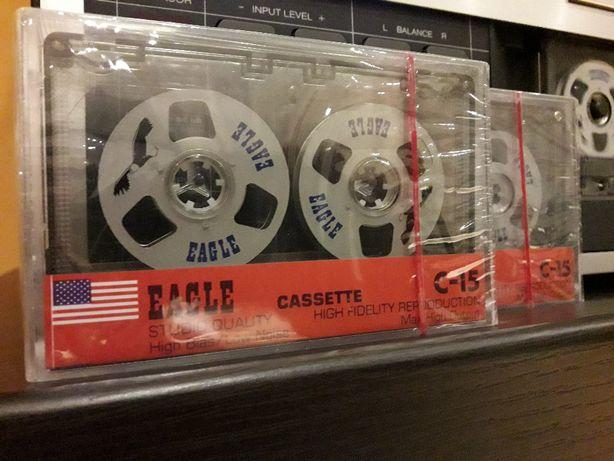 Kaseta magnetofonowa z metalowymi rolkami EAGLE C15 .