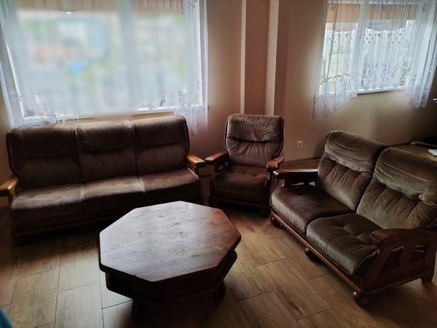 Komplet wypoczynkowy 3 2 1 meble do salonu sofa + stolik kawowy