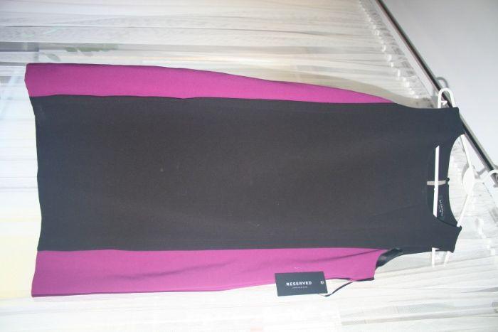 Sukienka róż czarny M reserved 38 Dębica - image 1