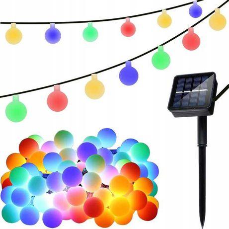 Girlanda Solarna Ogrodowa Lampki Wiszące LED Multikolor