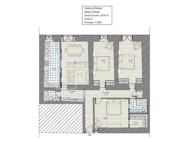 Apartamento T3 no Centro Histórico
