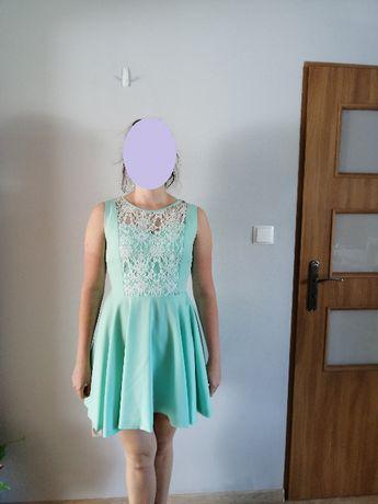 Sukienka miętowa r. 40