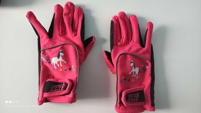 Rękawiczki do jazdy konnej HKM nowe