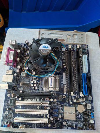 Материнская плата FOXCONN 915m12-pl-6ls + процессор