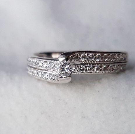 Кольцо с бриллиантами 0.38 карата