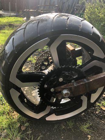 Koło custom bober drag-do motoru z wahaczem -kompletne