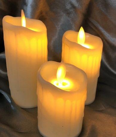 Светодиодная свеча. Свеча на батарейках. Led свечи. Набор 3шт