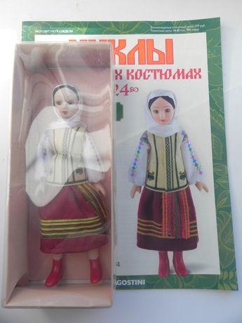 фарфоровая кукла ручной работы из коллекции Куклы в народных костюмах