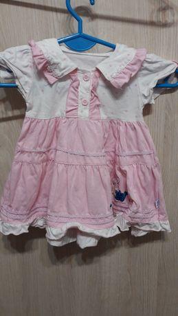 sukienka z kołnierzykiem w kroliczka na ok. 80/86