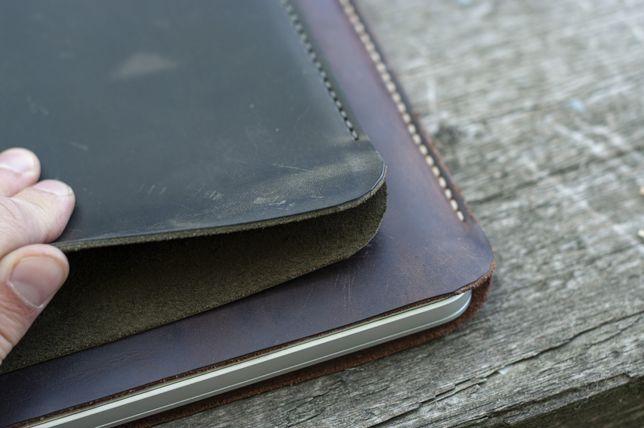 Чехол ноутбука из кожи macbook pro 13 15 16 air 2020 2015 чохол макбук