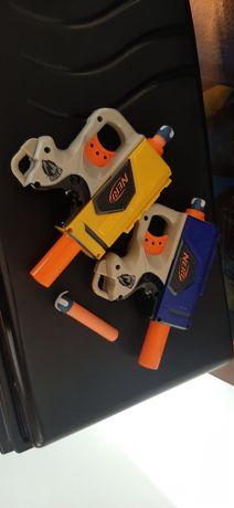 Conjunto de arma pistola NERF brinquedo e 3 balas