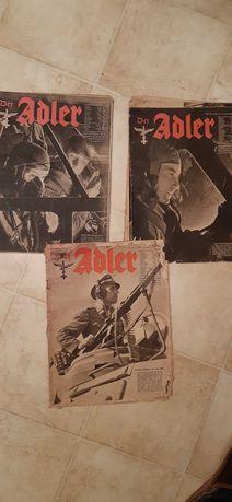 Czasopisma Niemiecki Adler II wojna światowa x 3 szt.
