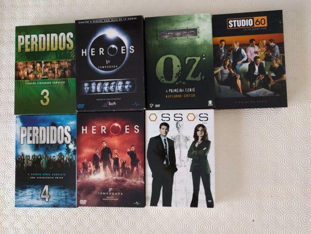 DVD'S - 5 SÉRIES - O preço indicado é o total das cinco.