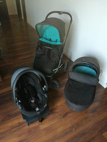 X-lader x-cite wózek 3w1 gondola+spacerówka+fotelik z bazą ISOfix
