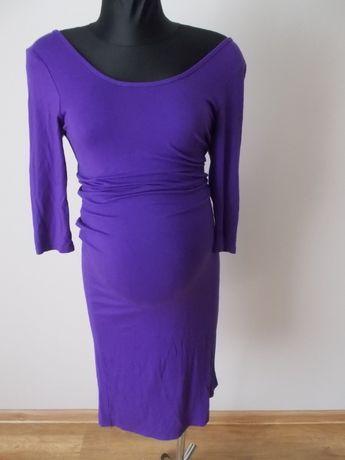 Sukienka ciążowa fioletowa