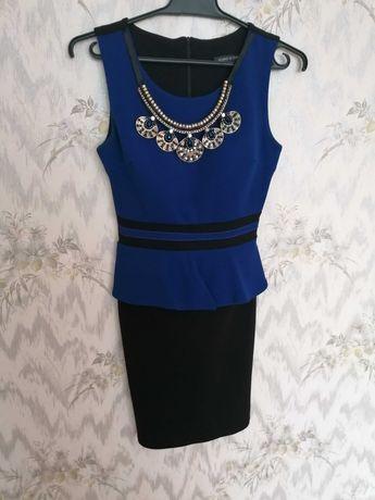 Sukienka rozmiar S czarno niebieska