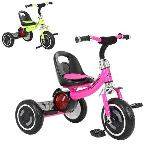 Трехколесный велосипед с музыкой,светом, 4 цвета