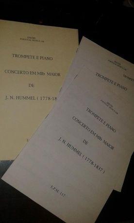 Trompete/Cornetim 3 Concertos cada com 3 pack (Bb, Eb e Eb/ piano)