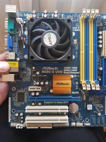 Материнская плата ASRock N68C-S + Процессор AMD Athlon II X2 245