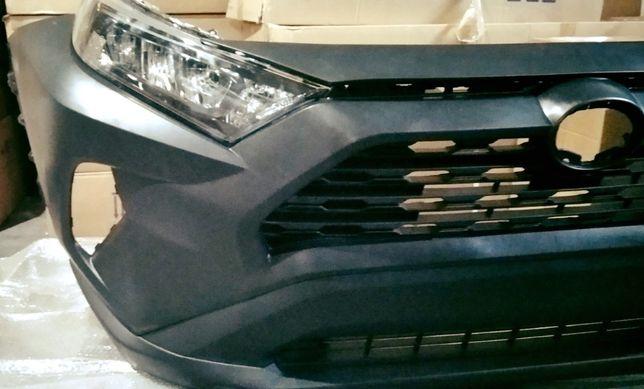 Toyota Rav 4 2019 USA передний бампер фары фонари туманки