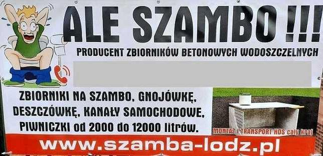 Szambo, szamba, zbiorniki betonowe Łódź, Zduńska Wola, Pabianice
